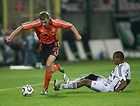 Fotball<br /> Foto: Wrofoto/Digitalsport<br /> NORWAY ONLY<br /> <br /> WARSZAWA 23/08/2006<br /> UEFA CHAMPIONS LEAGUE QUALIFICATION ROUND<br /> ELTON BRANDAO /R/ OF LEGIA WARSZAWA FIGHTS FOR THE BALL WITH VYACHESLAV SVIDERSKY OF SHAKHTAR DONETSK