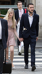 London, July 13th 2017. The parents of terminally ill Charlie Gard, Chris Gard and Connie Yates arrive at the High Court in London in a last ditch attempt to seek permission from the court to seek alternative treatment for their son's condition, Mitochondrian DNA depletion syndrome.