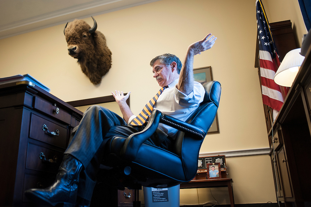 U.S. Representative Denny Rehberg (R-MT) in his office on Capitol Hill.