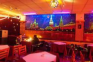 Mongolia. Ulaanbaatar. bar restaurant in winter at night  Ulan Baatar - Mongolia    /   bar louche  en hiver  la nuit  Oulan Bator - Mongolie