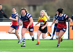 Sarah Bern of Bristol Bears Women scores a try- Mandatory by-line: Nizaam Jones/JMP - 23/03/2019 - RUGBY - Shaftesbury Park - Bristol, England - Bristol Bears Women v Richmond Women- Tyrrells Premier 15s