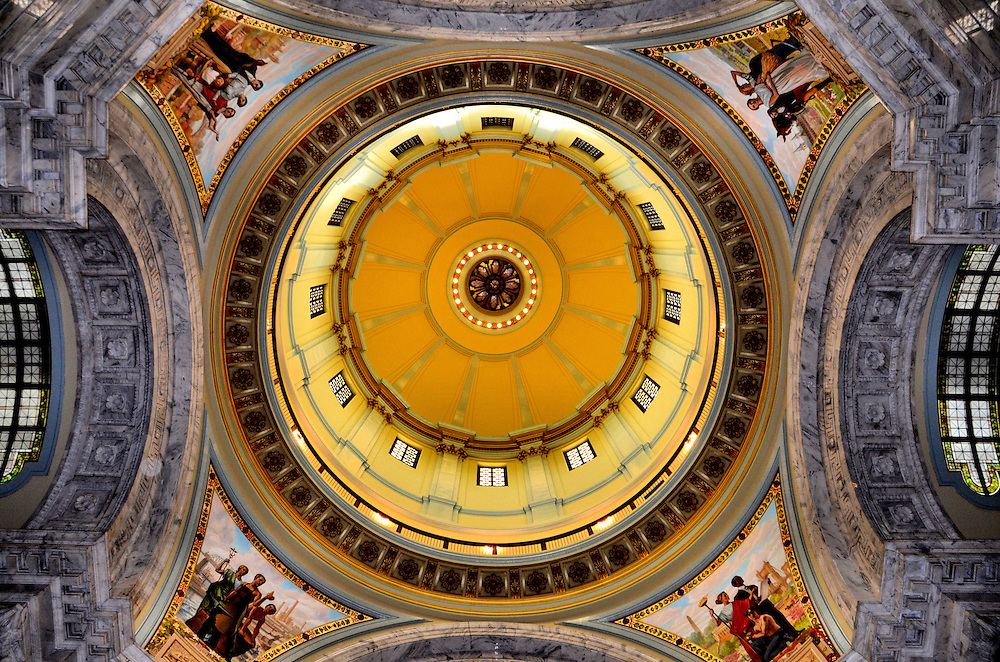 Kentucky State Capitol Building Rotunda Dome in Frankfort, Kentucky<br />