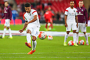 England's Alex Oxlade-Chamberlain  before the UEFA European 2016 Qualifying match between England and Switzerland at Wembley Stadium, London, England on 8 September 2015. Photo by Shane Healey.