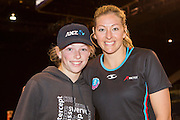 Sammie Withers, 12 years old for an ANZ VIP experience with Anna Thompson for the Tactix during the ANZ Championship Netball game between the Mainland Tactix v Adelaide Thunderbirds at Horncastle Arena in Christchurch. 20th April 2015 Photo: Joseph Johnson/www.photosport.co.nz