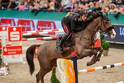 GAUDIANO Emanuele (ITA), Calvin Klein G<br /> Leipzig - Partner Pferd 2020<br /> FUNDIS Youngster Tour<br /> 2. Qualifikation für 7jährige Pferde <br /> Springprfg. nach Fehlern und Zeit, int.<br /> Höhe: 1.35 m<br /> 18. Januar 2020<br /> © www.sportfotos-lafrentz.de/Stefan Lafrentz