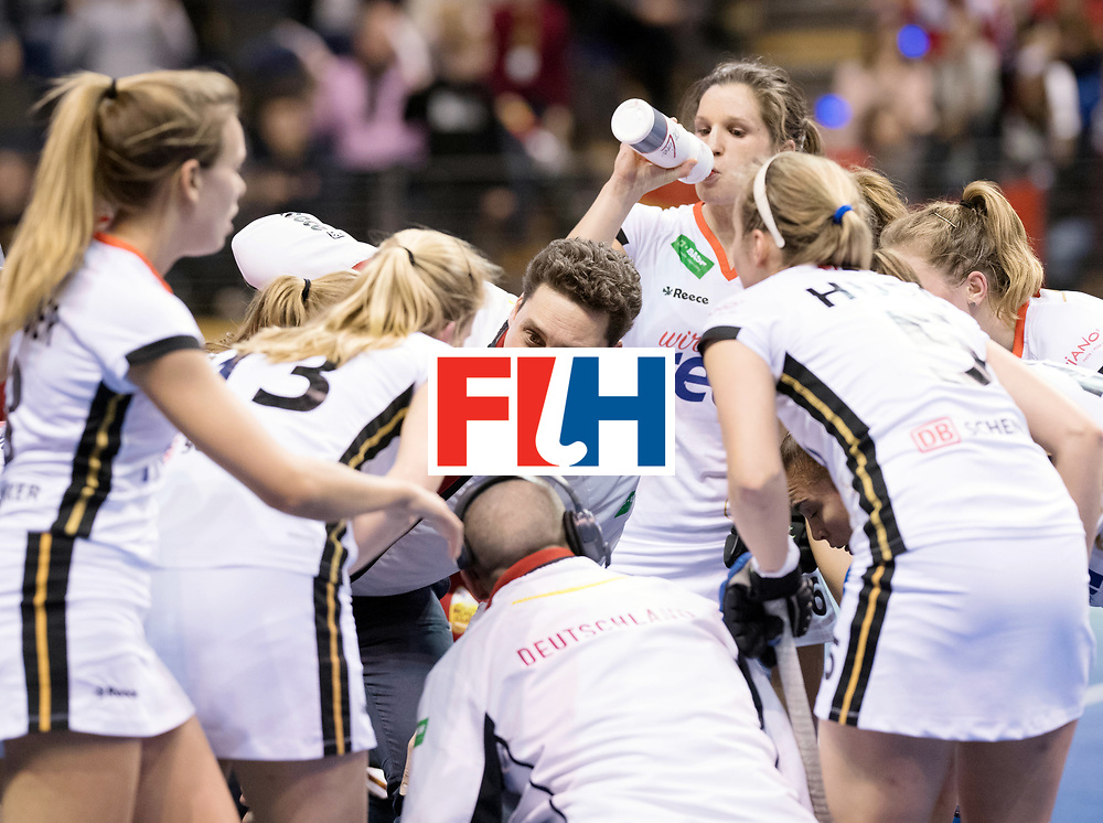 BERLIN - Indoor Hockey World Cup<br /> SF2 Belarus - Germany<br /> foto: BOUCHOUCHI Akim<br /> WORLDSPORTPICS COPYRIGHT FRANK UIJLENBROEK