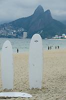Surfboards on Ipanema beach. Rio de Janeiro, Brazil.