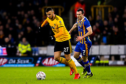 Romain Saiss of Wolverhampton Wanderers takes on Shaun Whalley of Shrewsbury Town - Mandatory by-line: Robbie Stephenson/JMP - 05/02/2019 - FOOTBALL - Molineux - Wolverhampton, England - Wolverhampton Wanderers v Shrewsbury Town - Emirates FA Cup fourth round replay