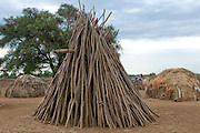 Huge bonfire from the tribe of the Dasanech, Omovalley,Ethiopia,Africa