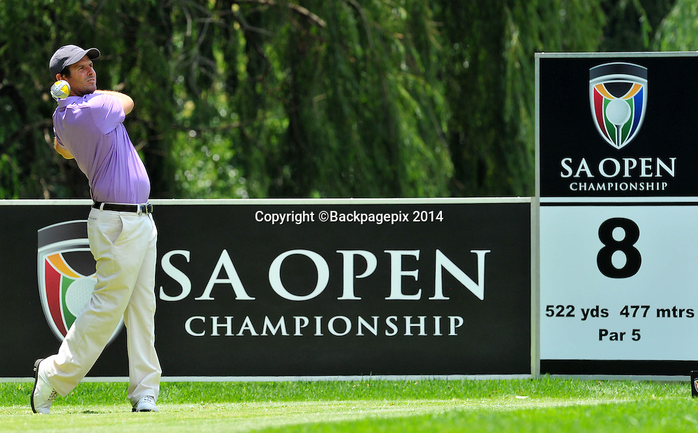 Thomas Alken during the 2015 South Africa Golf Open Championship at the Glendower Golf Course in Johannesburg, South Africa on January 10, 2014 ©Samuel Shivambu/BackpagePix