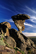 THIS PHOTO IS AVAILABLE FOR WEB DOWNLOAD ONLY. PLEASE CONTACT US FOR A LARGER PHOTO. Idaho. Near Castleford, Twin Falls Co. Regionally famous Balanced Rock.