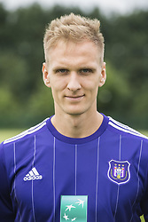 July 11, 2017 - Brussels, BELGIUM - Anderlecht's Lukasz Teodorczyk poses for photographer at the 2017-2018 season photo shoot of Belgian first league soccer team RSC Anderlecht, Tuesday 11 July 2017 in Brussels. BELGA PHOTO LAURIE DIEFFEMBACQ (Credit Image: © Laurie Dieffembacq/Belga via ZUMA Press)