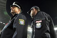 FUSSBALL INTERNATIONAL EM 2012 Freundschaftsspiel Polen - Deutschland                       06.09.2012 Deutsche und Polnische Polizisten in der PGE Arena , EM Stadion von Danzig, Gdansk
