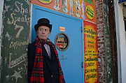 April 6, 2014- New York, NY: As a classic all-in-one performer at Coney Island Scott Baker can perform many tricks like fire eater, human blockhead and glass eater, just to name a few. 4/6/14 Photo by Melanie Bencosme/NYCity Photo Wire