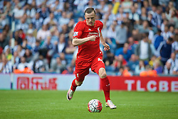 WEST BROMWICH, ENGLAND - Sunday, May 15, 2016: Liverpool's Brad Smith in action against West Bromwich Albion during the final Premier League match of the season at the Hawthorns. (Pic by David Rawcliffe/Propaganda)