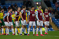 Football - 2019 / 2020 Emirates FA Cup - Fourth Round: Burnley vs. Norwich City<br /> <br /> Norwich City and Burnley players line up before a Norwich City free kick in the second half, at Turf Moor.<br /> <br /> COLORSPORT/ALAN MARTIN