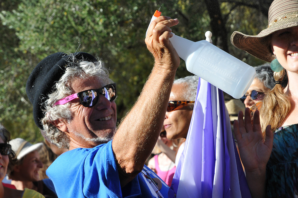 Dancing during Batucaxe concert at 2012 Tucson Folk Festival. Event photography by Martha Retallick.