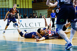 Armenakis Apostolos of ACH Volley during volleyball match between Calcit Volley and ACH Volley in Final of 1. DOL Slovenian Man national Championship 2016/17 on 24th of April, 2017 in Kamnik, Slovenija.  Photo by Grega Valancic / Sportida