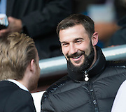 Former Scotland player Kevin Thomson in the crowd during Scotland Under-21 v FYR Macedonia,  UEFA Under 21 championship qualifier  at Tynecastle, Edinburgh. Photo: David Young<br /> <br />  - © David Young - www.davidyoungphoto.co.uk - email: davidyoungphoto@gmail.com