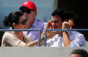 08.SEPTEMBER.2012. NEW YORK<br /> <br /> JULIANNA MARGULIES AND KEITH LIEBERTHAL WATCHES SCOTLAND'S ANDY MURRAY V CZECH REPUBLIC'S THOMAS BERDYCHS SEMI-FINAL MATCH AT THE 2012 US OPEN CHAMPIONSHIPS IN NEW YORK CITY.<br /> <br /> BYLINE: EDBIMAGEARCHIVE.CO.UK<br /> <br /> *THIS IMAGE IS STRICTLY FOR UK NEWSPAPERS AND MAGAZINES ONLY*<br /> *FOR WORLD WIDE SALES AND WEB USE PLEASE CONTACT EDBIMAGEARCHIVE - 0208 954 5968*