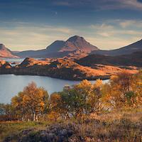 Cul Mor, Cul Beag and Stac Pollaidh from Loch Buine Moire, Coigach