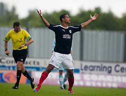Falkirk's Lyle Taylor celebrates after scoring their second goal..Falkirk 3 v 0 Stirling Albion, Ramsdens Cup..© Michael Schofield.