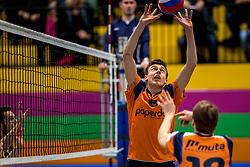 03-02-2018 NED: Talent Team - Inter Rijswijk, Arnhem<br /> Talent Team wint vrij eenvoudig met 3-0 van Rijswijk / Markus Held #8 of Talent Team