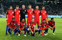 The England starting 11 starting the fixture against Slovenia - Mandatory by-line: Robbie Stephenson/JMP - 11/10/2016 - FOOTBALL - RSC Stozice - Ljubljana, England - Slovenia v England - World Cup European Qualifier