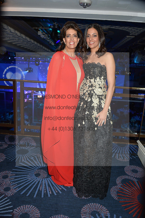 Left to right,  Mrs Dina Roushdi and Mrs Sherine Sawiris at the Chain of Hope Gala Ball held at The Grosvenor House Hotel, Park Lane, London on 18th November 2016.