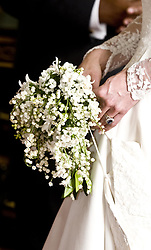 File photo dated 29/04/2011 of the Duchess of Cambridge's wedding bouquet as Princess Eugenie is expected to follow tradition by including a floral good luck charm in her wedding bouquet.