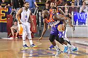 DESCRIZIONE : Campionato 2014/15 Virtus Acea Roma - Enel Brindisi<br /> GIOCATORE : Delroy James<br /> CATEGORIA : Palleggio Penetrazione Controcampo<br /> SQUADRA : Enel Brindisi<br /> EVENTO : LegaBasket Serie A Beko 2014/2015<br /> GARA : Virtus Acea Roma - Enel Brindisi<br /> DATA : 19/04/2015<br /> SPORT : Pallacanestro <br /> AUTORE : Agenzia Ciamillo-Castoria/GiulioCiamillo