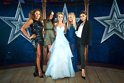 The Spice Girls (l-r Melanie Brown, Melanie Chisholm, Geri Halliwell, Emma Bunton and Victoria Beckham) pictured backstage at the press night of Viva Forever! - A new musical based on the songs of the Spice Girls.