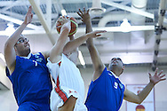 SO Poland athlete in action while basketball match SO Poland v SO Israel during second day of the Special Olympics World Games Los Angeles 2015 on July 26, 2015 on Galen Center at University of Southern California in Los Angeles, USA.<br /> USA, Los Angeles, July 26, 2015<br /> <br /> Picture also available in RAW (NEF) or TIFF format on special request.<br /> <br /> For editorial use only. Any commercial or promotional use requires permission.<br /> <br /> Adam Nurkiewicz declares that he has no rights to the image of people at the photographs of his authorship.<br /> <br /> Mandatory credit:<br /> Photo by © Adam Nurkiewicz / Mediasport