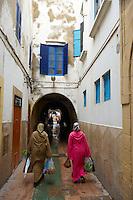 Maroc, Essaouira, Patrimoine mondial de l'UNESCO, la medina // Morocco, Medina of Essaouira, Atlantic coast, Unesco world heritage
