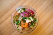 Aquavit the Restaurant. The dish is Pickles.