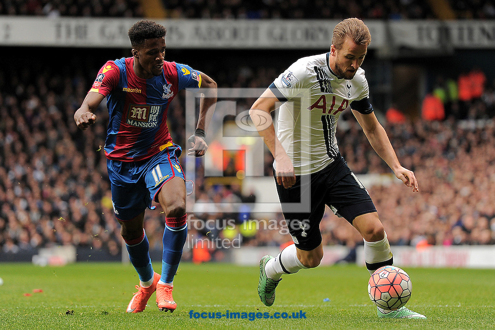 Harry Kane of Tottenham Hotspur looks to get past Wilfried Zaha of Crystal Palace during the FA Cup match between Tottenham Hotspur and Crystal Palace at White Hart Lane, London<br /> Picture by Richard Blaxall/Focus Images Ltd +44 7853 364624<br /> 21/02/2016