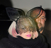 14.JULY.2009 - LONDON<br /> <br /> US POP STAR LADY GAGA ARRIVING AT BALLANS RESTAURANT, SOHO AT AT 12.30AM WEARING A BIG BALCK WOOL JACKET ON AFTER PERFORMING AT BRIXTON ACADEMY EARLIER IN THE EVENING, INSTEAD OF EATING LADY GAGA WAS MORE INTRESTED IN SNOGGING THE FACE OF A MYSTERY GUY IN THE RESTAURANT BEFORE THEY GOT INTURUPTED BY FORMER DESTINY'S CHILD SINGER MICHELLE WILLIAMS WHO WAS ALSO EATING AT THE RESTAURANT, GAGA THEN LEFT AT 1.30AM BEFORE RETURNING BACK TO HER HOTEL WITH THE MYSTERY GUY IN THE CAR.<br /> <br /> BYLINE: EDBIMAGEARCHIVE.COM<br /> <br /> *THIS IMAGE IS STRICTLY FOR UK NEWSPAPERS & MAGAZINES ONLY*<br /> *FOR WORLDWIDE SALES & WEB USE PLEASE CONTACT EDBIMAGEARCHIVE - 0208 954 5968*