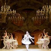 24.07.2013 English National Ballet A tribute to Rudolf Nureyev at the London Coliseum UK<br /> Raymonda Act 3 performed by members of the ENB<br /> Raymonda Daria Klimentova<br /> Jean de Brienne Vadim Muntagirov