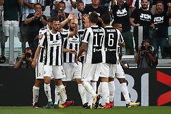 August 19, 2017 - Turin, Italy - Higuain celebrates after scoring his goal during the Serie A football match n.1 JUVENTUS - CAGLIARI on 19/08/2017 at the Allianz Stadium in Turin, Italy. (Credit Image: © Matteo Bottanelli/NurPhoto via ZUMA Press)