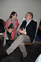 LUCY BIRLEY and MICHAEL HOWELLS at a dinner hosted by Bella Freud for German artist Marcel Odenbach at her home 275 Kensal Road, London W10 on 6th June 2011.