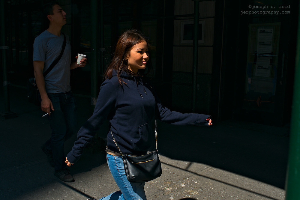 Woman walking and swniging arms