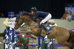 Lindelow Douglas, (SWE), Casello <br />  Longines FEI World Cup™ Jumping Final Las Vegas 2015<br />  © Hippo Foto - Dirk Caremans<br /> Final III round 2 - 19/04/15