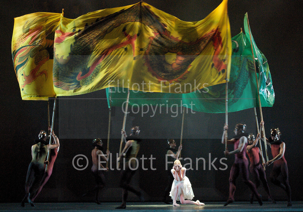 The Prince of the Pagodas<br /> The Royal Ballet<br /> at The Royal Opera House, Covent Garden, London, Great Britain <br /> general rehearsal <br /> 2nd June 2012 <br /> <br /> choreography by Kenneth Macmillan<br /> <br /> music by Benjamin Britten <br /> <br /> designs by Nicholas Georgiadis<br /> scenario Colin Thubron after Cranko<br /> Lighting by John B Read<br /> Staging by Monica Mason &amp; Grant Coyle<br /> ballet masters Christopher Saunders &amp; Gary Avis<br /> Coaching by Alexander Agadzhanov &amp; Jonathan Cope<br /> <br /> Gary Avis (as Emperor)<br /> <br /> Laura Morera (as Princess Epine)<br /> <br /> Sarah Lamb (as Princess Rose)<br /> <br /> Federico Bonelli (as The Prince)<br /> <br /> Bennet Gartside (as The King of the North)<br /> <br /> Johannes Stepanek (as The King of the East)<br /> <br /> Jonathan Watkins (as The King of the West)<br /> <br /> Brian maloney (as The King of the South)<br /> <br /> Thomas Whitehead (as The Emperor's Counsellor)<br /> <br /> Artists of the Royal Ballet <br /> <br /> <br /> Photograph by Elliott Franks