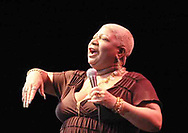 Luenell Campbell performs at the Nutter Center on Saturday night.