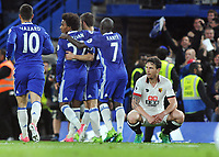 Football - 2016 / 2017 Premier League - Chelsea vs. Watford<br /> <br /> A dejected Daryl Janmaat of Watford after Chelsea's winning goal by Cesc Fabregas at Stamford Bridge.<br /> <br /> COLORSPORT/ANDREW COWIE