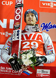12.12.2015, Nordic Center, Nizhny Tagil, RUS, FIS Weltcup Ski Sprung, Nizhny Tagil, Herren, Siegerehrung, im Bild Joachim Hauer (NOR, 3. Platz) // 3rd placed Joachim Hauer of Norway celebrate on Podium during award winner ceremony of mens Skijumping Competition of FIS Skijumping World Cup at the Nordic Center in Nizhny Tagil, Russia on 2015/12/12. EXPA Pictures © 2015, PhotoCredit: EXPA/ Tadeusz Mieczynski