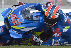February 7, 2019 - Sepang, Malaysia - Team Suzuki ECSTAR's rider Alex Rins of Spain takes a corner during the second day of the 2019 MotoGP pre-season testing at Sepang International Circuit February 7, 2019. (Credit Image: © Zahim Mohd/NurPhoto via ZUMA Press)