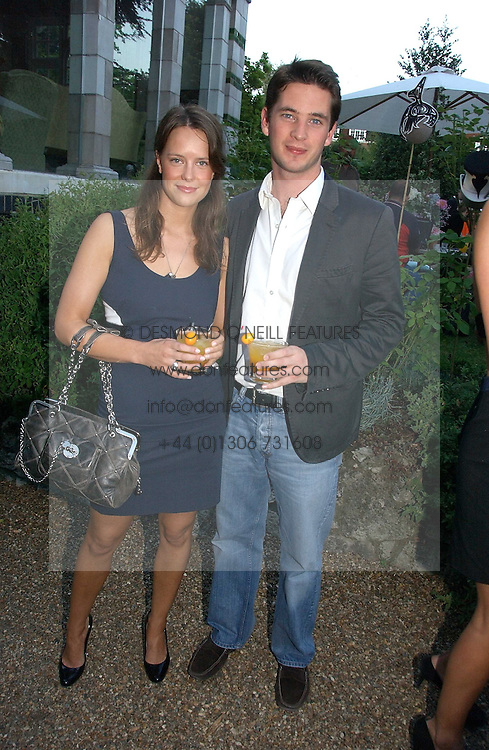 ARABELLA MUSGRAVE and the HON.JAMES TOLLEMACHE at a party to celebrate Stephen Jones's 25 Years of Millinery held at Debenham House, 8 Addison Road, London W14 on 13th July 2006.<br /><br />NON EXCLUSIVE - WORLD RIGHTS