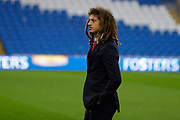 Wales defender Ethan Ampadu before the Friendly match between Wales and Belarus at the Cardiff City Stadium, Cardiff, Wales on 9 September 2019.