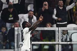 March 8, 2019 - Turin, Italy - Juventus forward Moise Kean (18) celebrates after scoring his goal during the Serie A football match n.27 JUVENTUS - UDINESE on 08/03/2019 at the Allianz Stadium in Turin, Italy. (Credit Image: © Matteo Bottanelli/NurPhoto via ZUMA Press)